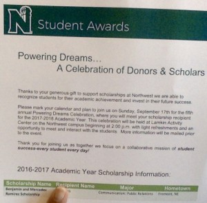 Benjamin & Mercedes Ramirez Scholarship Fund